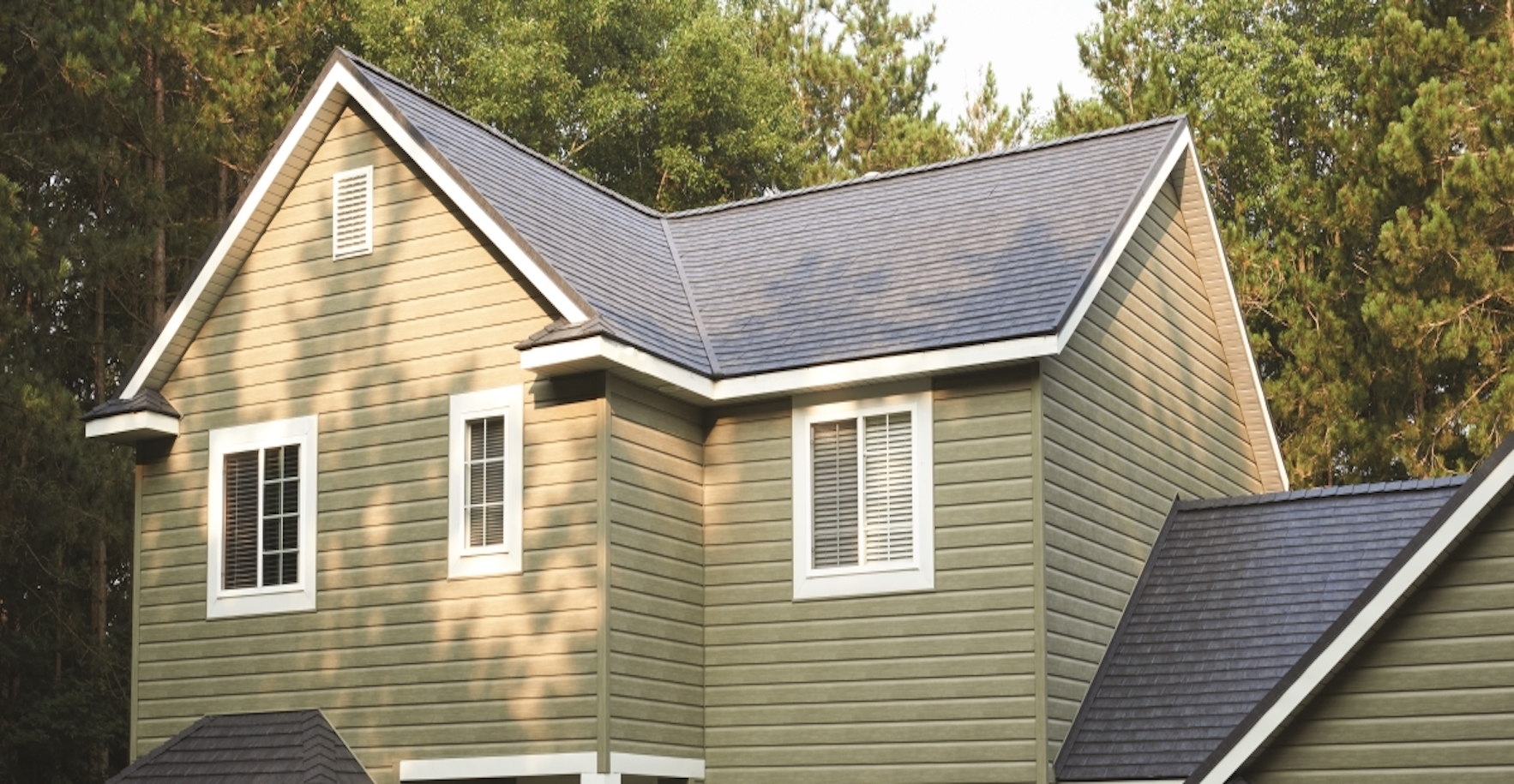 A-House-With-Blue-Shingles-Roofing
